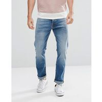 co fearless freddie loose taper fit jean shiny indigo wash - blue, Nudie jeans