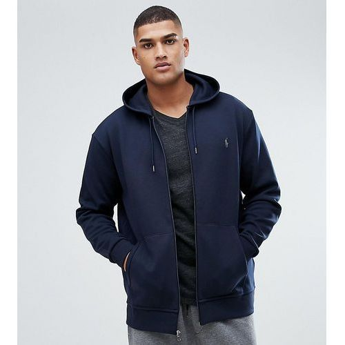 Polo Ralph Lauren Big & Tall Zip Through Hoodie with Pockets in Navy - Navy, 1 rozmiar