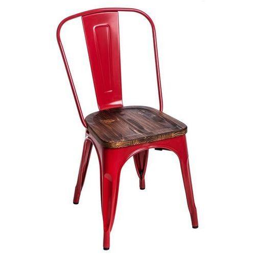 Krzesło paris wood sosna - czerwone marki D2.design
