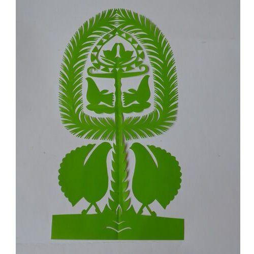 Twórczyni ludowa Wycinanka ludowa, kurpiowska - leluja, drzewko szczęścia, wys. 27 cm (czk-14)
