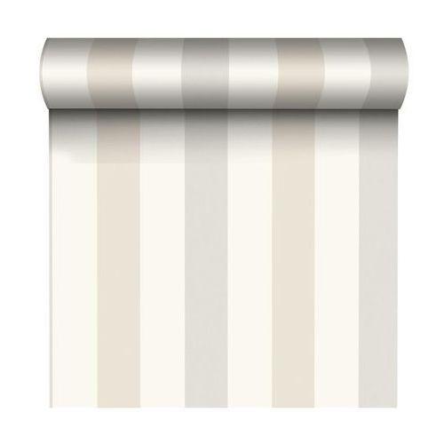 Grandeco Tapeta w pasy aurora stripes beżowa winylowa na flizelinie (5411012389949)