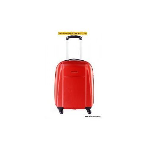 Puccini  walizka mała/ kabinowa z kolekcji abs02 twarda 4 koła materiał abs zamek szyfrowy