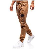 Spodnie joggery męskie camelowe Bolf 0829, kolor brązowy
