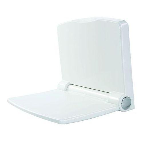 Omnires siedzisko ścienne do kabiny prysznicowej wolnoopadające białe Yogi1, Yogi1