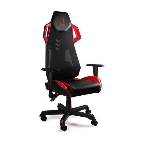 Fotel gamingowy Unique DYNAMIQ V11 czarno-czerwony z regulacją - ZŁAP RABAT: KOD100, UN-DYNAMIQ-V11-GMP-001-1-4-2