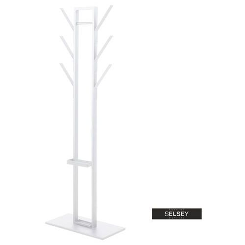 SELSEY Wieszak stojący Strane biały ze stojakiem na parasol (5903025326177)