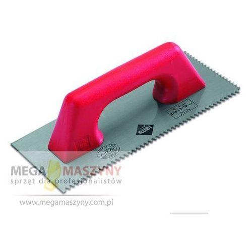 RUBI Paca stalowa ząbkowana 28 cm Rączka plastikowa 10x10 mm