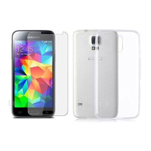 Etui plecki silikonowe przeźroczyste do Samsung Galaxy S5 mini + Szkło hartowane