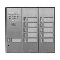 5025/11D Bramofon 11-przycisków stal nierdzewna, z daszkiem 3 rzędowy Miwi-Urmet, 5025/11D