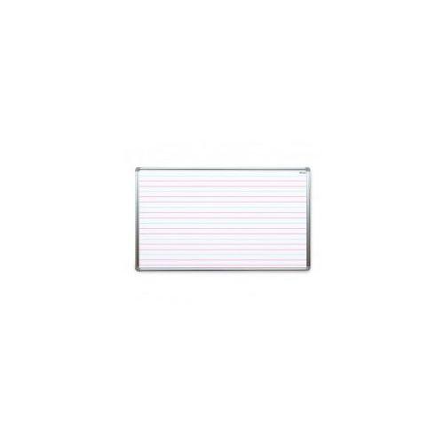 Allboards Tablica suchościeralna magnetyczna biała 170x100 cm z nadrukiem - nauka pisania