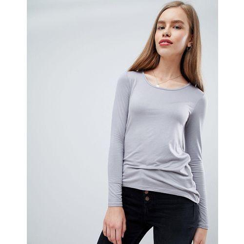 Brave Soul Toya Long Sleeve Top with Twisted Back - Grey, w 2 rozmiarach