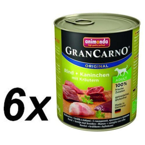 Animonda GRANCARNO Adult wołowina-królik-zioła 800g (4017721827676)