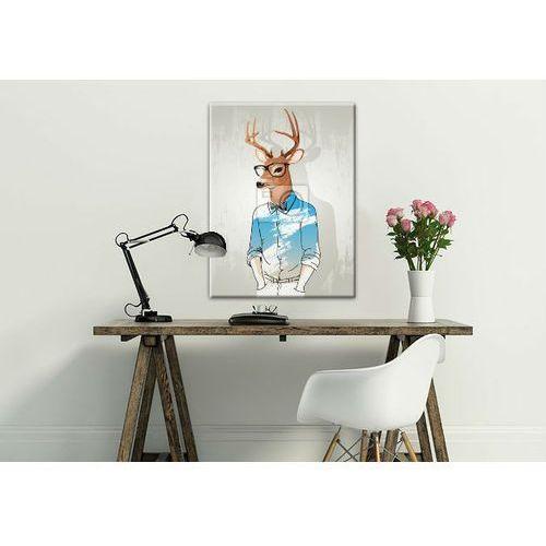 Modny obraz z motywem jelenia, fajny prezent dla szefa;)