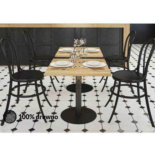 Woodica Stolik dębowy kawowy/barowy/restauracyjny kaw03 kwadratowy 90x75x90