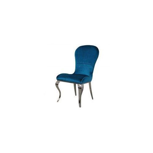 Krzesło glamour Tiffany Dark Blue - nowoczesne krzesło tapicerowane (5908273390567)