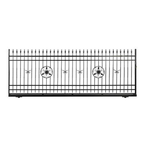 Brama przesuwna bez przeciwwagi Flores 400 x 150 cm lewa (5903641453189)