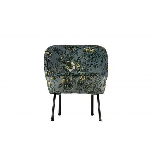 fotel vogue szary z motywem kwiatowym 800748-85 marki Be pure