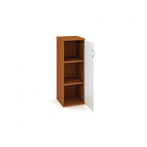 Szafka Select półkowa - przeszklona, prawa, 400 x 400 x 1152 mm, czereśnia