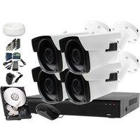 Zestaw do monitoringu: Rejestrator LV-XVR44S, 4x Kamera LV-AL60HVTW-S, 1TB, akces, ZM9344