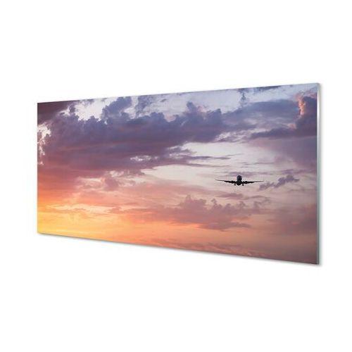 Tulup.pl Obrazy akrylowe chmury niebo samolot światła