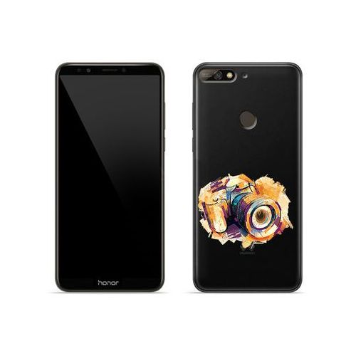 Huawei Honor 7C - etui na telefon Crystal Design - Kolorowy aparat, ETHW699CRDGDG048000