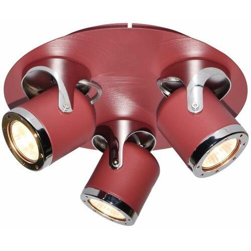 LAMPA sufitowa APRIL 5039 Rabalux regulowana OPRAWA metalowa reflektorki czerwone (5998250350394)