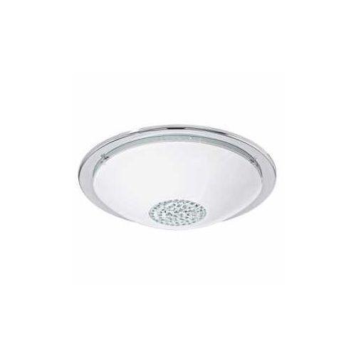 Plafon Eglo Giolina 93778 lampa sufitowa 1x16W LED biały/chrom/kryształ, kolor chrom,