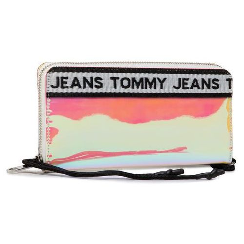 Tommy jeans Duży portfel damski - tjw logo tape lrg za wallet pu aw0aw08265 0f4