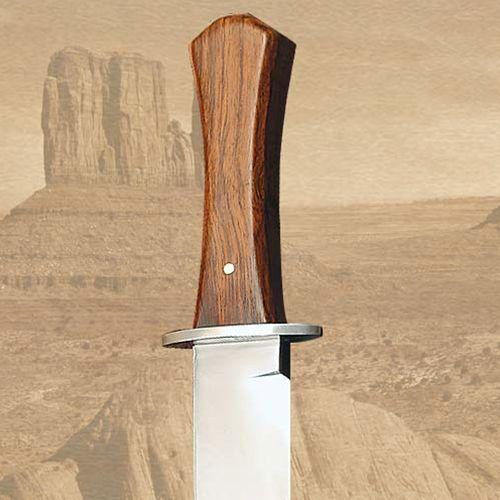 Płatnerze Nóż z pochwą trumienna rękojeść - usa dziki zachód (ws400222)