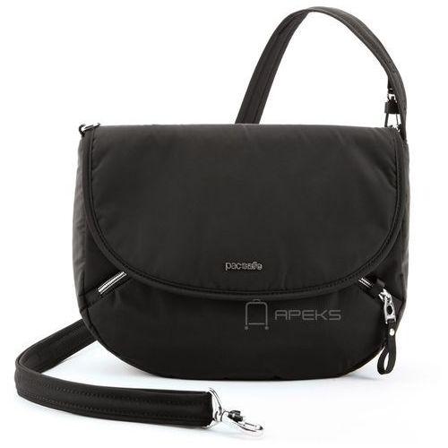 stylesafe crossbody torebka damska antykradzieżowa na ramię / czarna - black marki Pacsafe