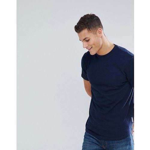 t-shirt in texture with drop hem in navy - navy, Bellfield, S-L