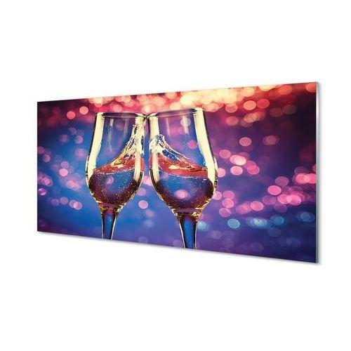 Obrazy akrylowe Kieliszki kolorowe tło szampan