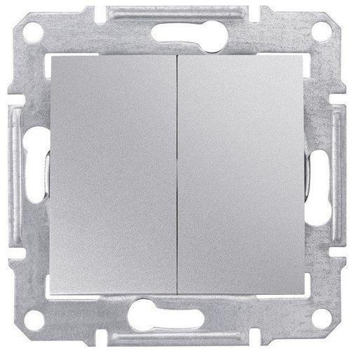 Schneider electric Przełącznik podwójny schneider sedna sdn0300160 świecznikowy aluminium (8690495032505)