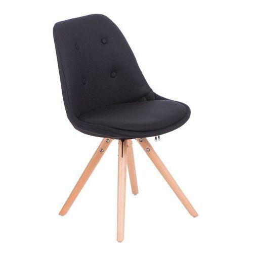 Domfan design Czarne krzesło nowoczesne tapicerowane norden star pikowane - czarny (5902385705646)