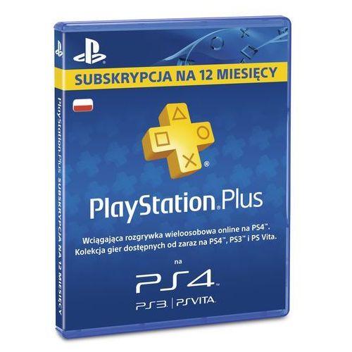 Karta playstation plus 365 dni + zamów z dostawą jutro! + darmowy transport! marki Sony