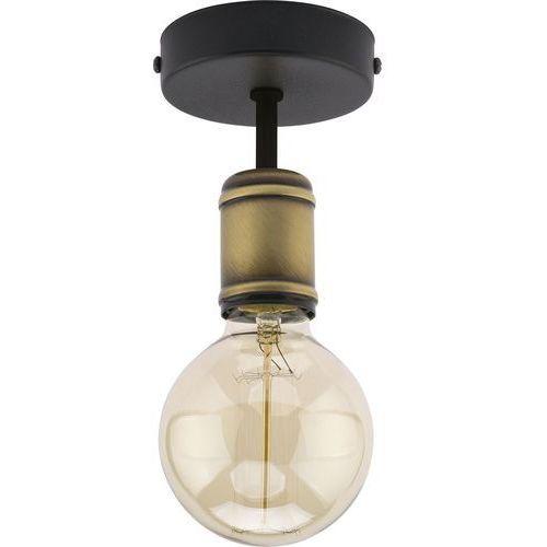 Tklighting Lampa wisząca zwis oprawa tk lighting retro 1x60w e27 czarna/złota 1901