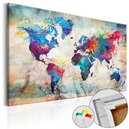 Obraz na korku - Mapa świata: Kolorowe szaleństwo [Mapa korkowa], A0-Pinnwand618 (7809860)