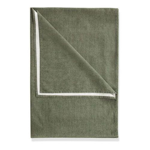Narzuta z materiału w optyce lnu zielono-oliwkowy marki Bonprix