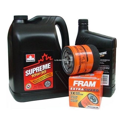Petrocanada-fram Filtr oleju oraz olej supreme 10w30 chevrolet venture 3,4 v6