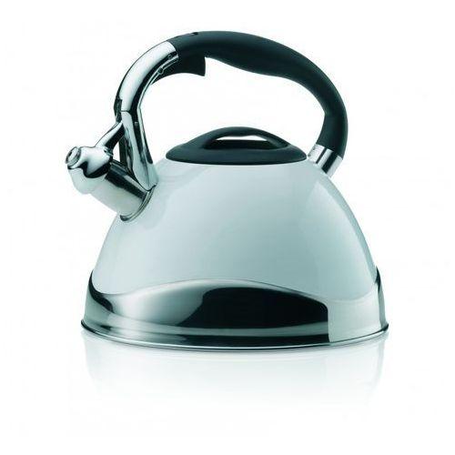 Czajnik stalowy biały z gwizdkiem Varus Kela 3 Litry (KE-11657) (4025457116575)