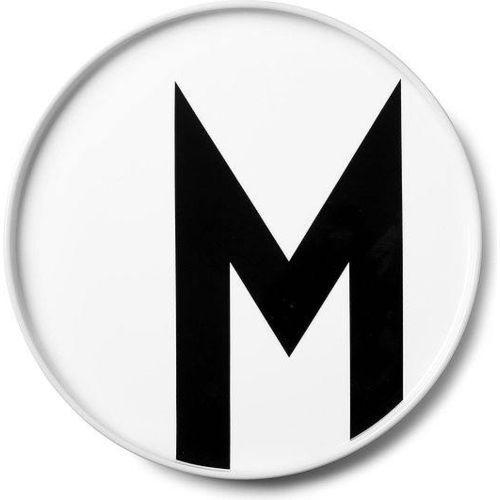 Talerz porcelanowy AJ litera M