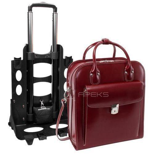 """la grange skórzana damska torebka na laptopa 15,4"""" z dopinanym stelażem na kółkach - czerwony marki Mcklein"""
