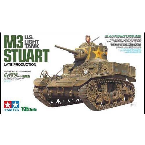 Model plastikowy lekki czołg amerykański m3 stuart późna produkcja marki Tamiya