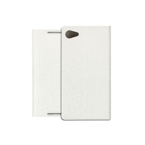 Sony xperia z5 compact - pokrowiec na telefon - biały marki Etuo flex book