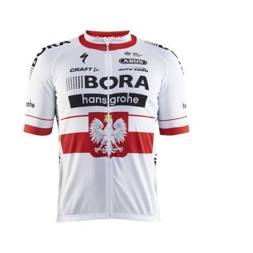 Koszulka z krótkim rękawem CRAFT Bora-Hansgrohe Replica biały / Rozmiar: M (7318572774339)