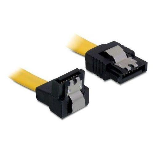 kabel sata 6gb/s 50cm kątowy dół/prosty (metalowe zatrzaski) żółty darmowa dostawa do 400 salonów !! marki Delock