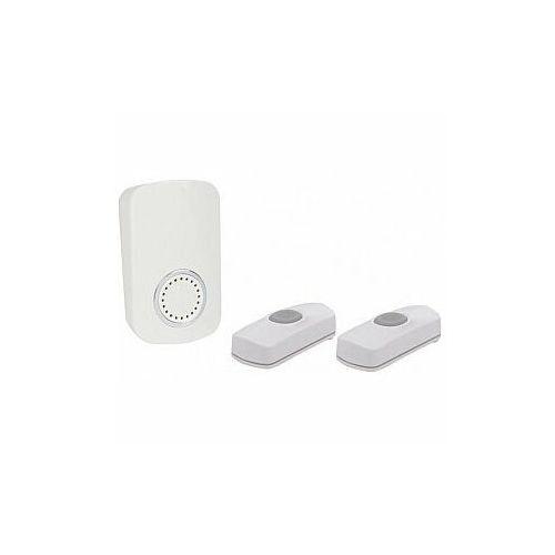 Perel bezprzewodowy, wtykowy dzwonek do drzwi z 2 przyciskami - zestaw