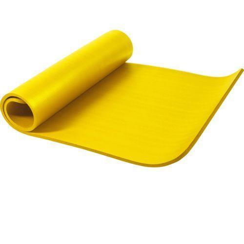 Mata do ćwiczeń fitness jogi duża 190x100x1,5cm antypoślizgowa żółta (4260200847096)