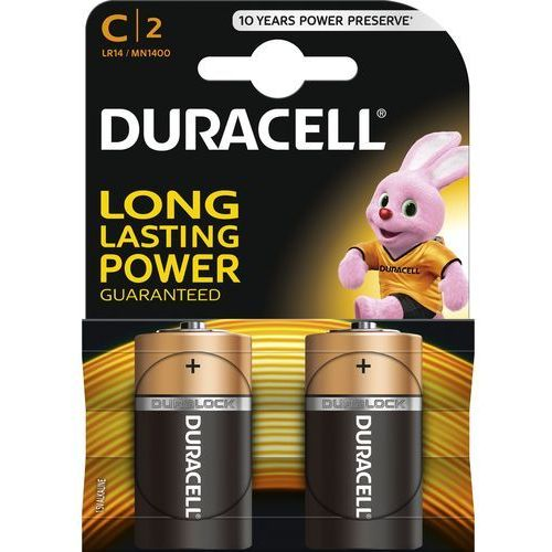 Duracell 2 x bateria alkaliczna lr14 c (blister) (5000394076761)