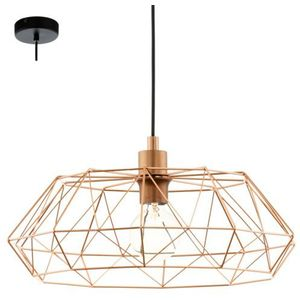 Industrialna lampa wisząca carlton 2 49488 druciana oprawa metalowy zwis newton ip20 drut miedziany marki Eglo